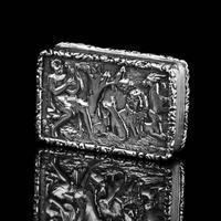 "Rare Antique Georgian Solid Silver Vinaigrette Figural Scene with Animals & Harp ""Orpheus Enchanting Animals""- Joseph Taylor 1827 (13 of 18)"
