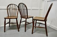 4 High Windsor Beech & Elm Hoop Back Windsor Chairs (5 of 5)