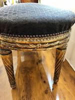 Antique French Carved Giltwood & Gesso Window Seat Bench (5 of 13)
