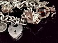 Vintage Sterling Silver Charm Bracelet, 1960s - Heavy (5 of 12)