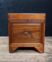 Early 20th Century Oriental Carved Teak and Camphor Wood Chest (3 of 12)