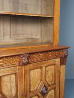 Antique Victorian Golden Oak Open Bookcase (11 of 20)