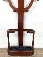 Victorian Mahogany Tree Shaped Hall Stand with Four Arms (3 of 10)