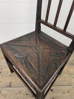 Pair of Antique Carved Oak Hall Chairs (11 of 13)