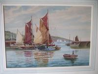 "A D Bell 'aka Wilfrid Knox' Watercolour ""Drying Sails Dated 1953 (2 of 5)"
