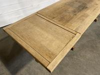 Huge Oak Farmhouse Dining Table with Extensions (4 of 24)