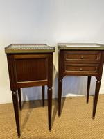 Pair of Mahogany 2 Drawer Bedside Cabinets (2 of 5)
