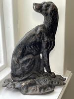 19th Century Country House Seated Hound Dog Cast Iron Door Stop (4 of 37)