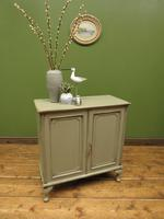 Small Antique Grey Painted Cabinet, Shabby Chic (6 of 8)
