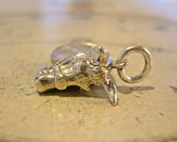 Vintage Pocket Watch Chain Silver Horse Fob 1970 Solid Silver Equestrian Fob (8 of 8)