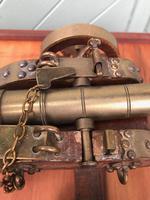 Antique Oak & Brass Miniature Cannon (8 of 10)