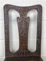 Antique Victorian Carved Oak Chair (3 of 14)