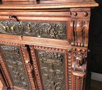 Victorian Carved Oak Secretaire Bookcase (12 of 25)