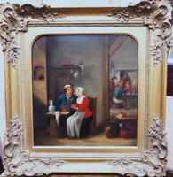 David Teniers The Younger 'After' Dutch Genre Tavern Interior Scene 17th Century Oil Portrait Paintings (6 of 13)