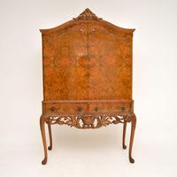 Antique Burr Walnut  Cocktail  Drinks Cabinet (2 of 13)