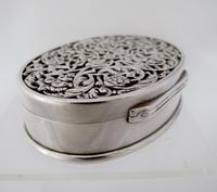 Impressive Victorian silver table snuff box Henry William Dee London 1877 (12 of 13)