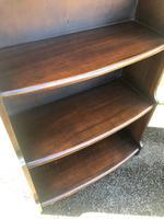 Antique Slim Oak Domed Top Open Bookcase (3 of 8)