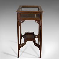 Antique Bijouterie Table, English, Walnut, Glass, Display, Edwardian c.1910 (4 of 12)