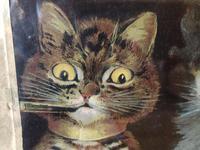 "Victorian Louis Wain Print ""Bachelors Party"" c.1896 Advert for Capstan Cigarettes (5 of 13)"