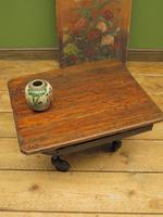 Small Industrial Antique Vono Cart Trolley Coffee Table with Bakelite Castors (11 of 17)