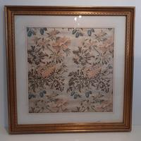 Framed Indian Fabric, 1783