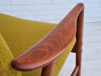 Alf Svensson, 60s, Armchair Model Kontur, Completely Restored, Furniture Wool (10 of 16)