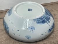Interesting Chinese Meiping Qianlong Style Round Blue White Porcelain Bowl (22 of 26)