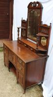 1920's Mahogany Dressing Table with Well Carved Panels (3 of 3)