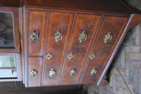 George I Walnut Double Dome Bookcase on Chest (4 of 10)