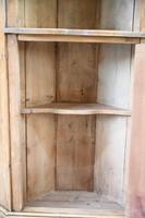 Rustic Pine Corner Cupboard Handpainted Fishing Scene (11 of 12)