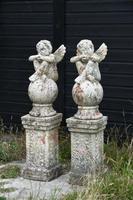 Pair of Terracotta Cherub Garden Sculptures (3 of 12)