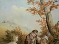 John Henry Mole Exhibition Quality Regency Period Watercolour Painting (6 of 13)