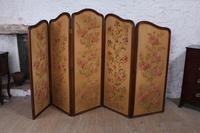 Beautiful Old Art Nouveau 5 Fold Screen (12 of 14)