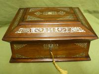 Large Inlaid Rosewood Jewellery / Table Box c.1835 (3 of 12)