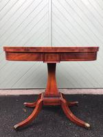 Quality Inlaid Mahogany Fold Over Games Table (4 of 12)