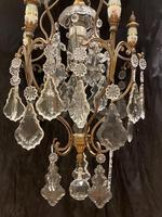 One Light Italian Antique Cage Chandelier (6 of 13)