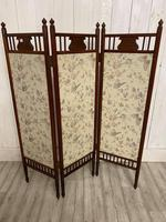 Edwardian Panelled Dressing Screen (5 of 5)
