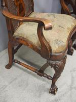 Pair of Queen Anne Style Walnut Armchairs (9 of 17)