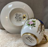 Limoges Sevres Style Cup & Saucer (3 of 3)