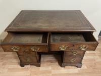 George III Gentleman's Kneehole Leather Top Mahogany Desk (6 of 12)