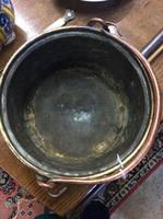 Late 17th Century or Early 18th Century Brass & Copper Cauldron (2 of 4)
