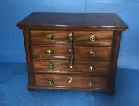 Victorian mahogany miniature chest of drawers (10 of 18)