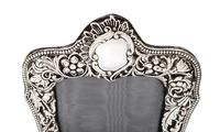 """Antique Victorian Sterling Silver 8"""" Photo Frame   1899 (4 of 10)"""