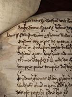 1440 A.D Medieval James ll of Scotland Period Vellum Document (10 of 13)