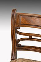 Set of Seven Regency Period Mahogany Framed Chairs (4 of 5)