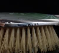 Vintage Art Deco Silver & Enamel Brush Set (3 of 12)