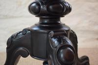 Victorian Ebonised Adjustable Piano Stool (4 of 10)