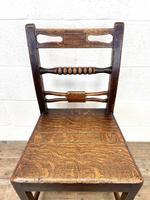 Set of Six Georgian Oak Country Chairs (7 of 10)