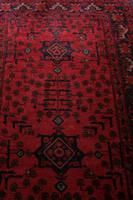 Vintage North West Persian Wool Runner with an all over design upon a red and dark blue ground within multiple borders (7 of 8)