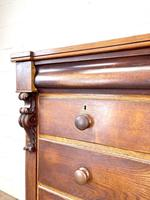 Large Victorian Oak & Mahogany Chest of Drawers (5 of 10)